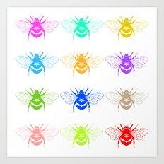 Honey Seekers  Art Print