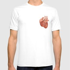 Heart 2 Mens Fitted Tee White SMALL