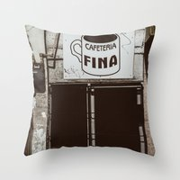 Café Fino Throw Pillow