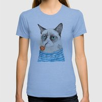 Sailor Cat I Womens Fitted Tee Athletic Blue SMALL