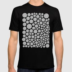 Blooming Trees SMALL Mens Fitted Tee Black
