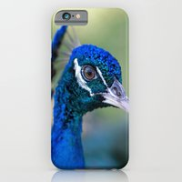 iPhone & iPod Case featuring Peacock Portrait by Laura George