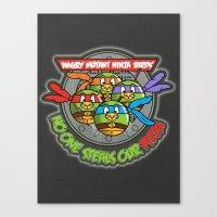 Angry Mutant Ninja Birds Canvas Print