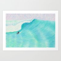 SURF GUITAR no. 2 | WATER COLOR Art Print