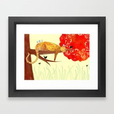 Sleeping Leopard Framed Art Print