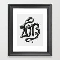 2013 - Year Of The Black… Framed Art Print