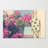 Nature and polka dots Canvas Print