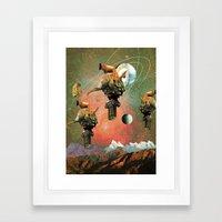 3 Pillars  Framed Art Print