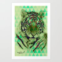 TigerPix Art Print