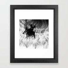 Drawlloween 2014: Devil Framed Art Print