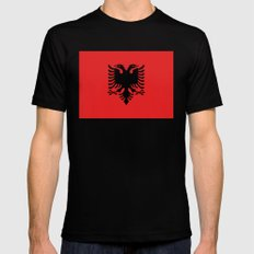 Albanian Flag - Hight Quality image SMALL Mens Fitted Tee Black
