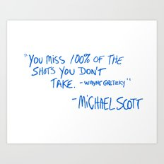 The Office Quote Art Print