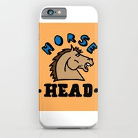 iPhone & iPod Case featuring horse head by benjamin chaubard