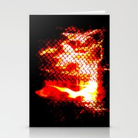 Sleep Now By The Fireplace Stationery Cards