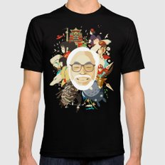 Miyazaki-San SMALL Mens Fitted Tee Black