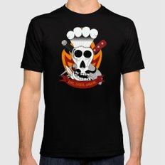 Chef For Life (Code Of Arms) Mens Fitted Tee Black SMALL