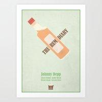 The Rum Diary - Minimal … Art Print
