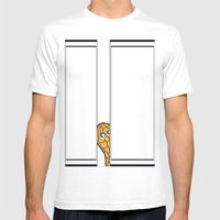 Curious Mens Fitted Tee White SMALL