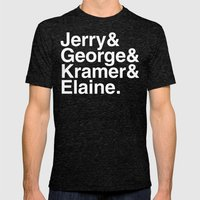 Seinfeld Jetset Mens Fitted Tee Tri-Black SMALL