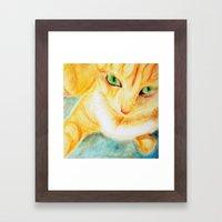Mango Kitty Framed Art Print