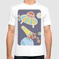 space flying Mens Fitted Tee White SMALL