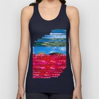 Beautifully Glitched Oslo, Norway Unisex Tank Top