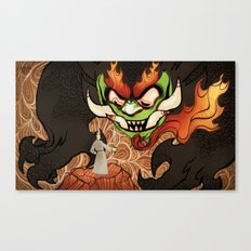 Samurai Jack and Aku Canvas Print