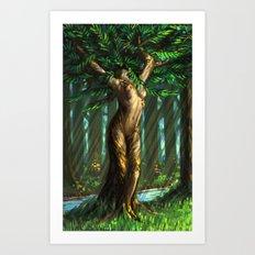 Daphne's Metamorphosis Art Print