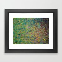 FIELDS OF BLUE - WOW Mod… Framed Art Print