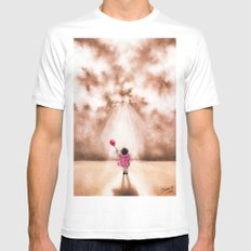 WINDS OF CHANGE  White Mens Fitted Tee SMALL