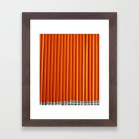 Pencil Framed Art Print