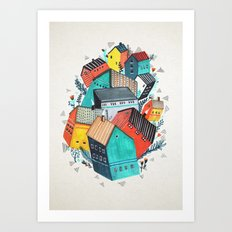 Tumble Town  Art Print