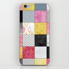 Pink, Gold And Silver Pa… iPhone & iPod Skin