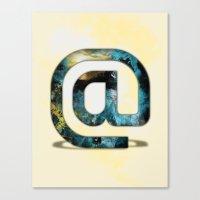 At Sign {@} Series - Sil… Canvas Print
