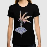 The Mushroom King Womens Fitted Tee Black SMALL