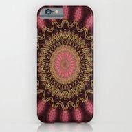 Golden Mandala (red) iPhone 6 Slim Case