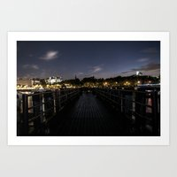More of the Thames at Night. Art Print