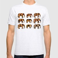 CHEETAH ELEPHANTS Mens Fitted Tee Ash Grey SMALL