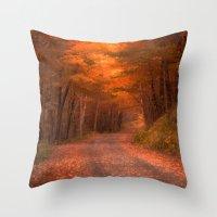 Autumns Passage Throw Pillow