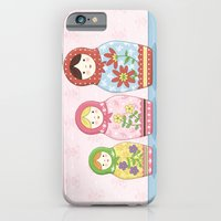 iPhone & iPod Case featuring Matryoshka Sisters by Amanda Francey