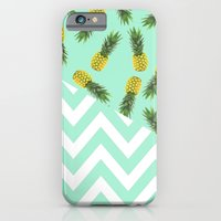 blue pineapple chevron iPhone 6 Slim Case