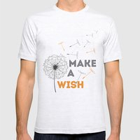 Make a wish orange Mens Fitted Tee Ash Grey SMALL
