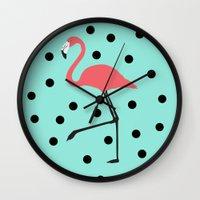 Flamingo Fever Wall Clock