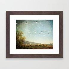 Starlit Vineyard Framed Art Print