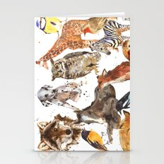 Animal Menagerie Stationery Cards