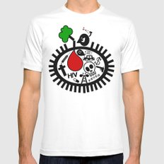 .....NoThIng LeFT FoR OuR ChILdrEn..... White Mens Fitted Tee SMALL
