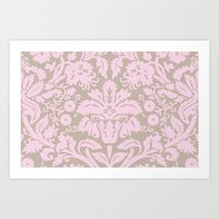 French chic pink Art Print