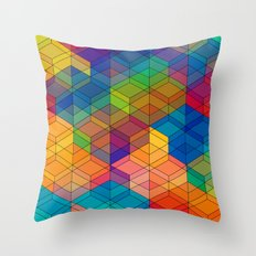 Cuben Intense No.2 Throw Pillow