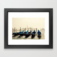 Gondolas in Color Framed Art Print