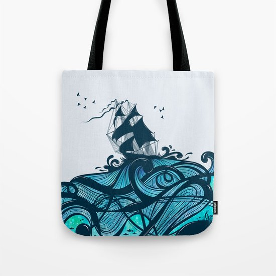 Upon The Sea Tote Bag